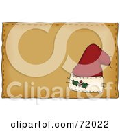 Folk Styled Santa Hat On A Brown Background