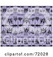 Royalty Free RF Clipart Illustration Of A Purple And Black Moth Motif by inkgraphics
