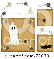 Royalty Free RF Clipart Illustration Of A Digital Collage Of Hanging Halloween Door Signs by inkgraphics