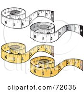 Royalty Free RF Clipart Illustration Of A Digital Collage Of Measuring Tapes