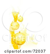 Royalty Free RF Clipart Illustration Of A Background Of Golden Sparkly Christmas Baubles Over White by inkgraphics