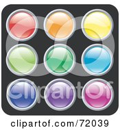 Digital Collage Of Colorful Siny Rounded Site Icon Buttons Version 2 by inkgraphics