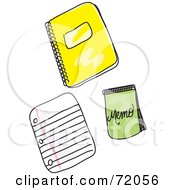 Royalty Free RF Clipart Illustration Of A Digital Collage Of School Note Pads by inkgraphics