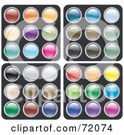 Royalty Free RF Clipart Illustration Of A Digital Collage Of Colorful Siny Rounded Site Icon Buttons Version 1