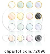 Digital Collage Of Pastel Pearly Round Icons With Reflections by inkgraphics