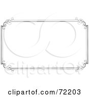 Royalty Free RF Clipart Illustration Of A Simple Border Frame With Elegant Designed Corners On White