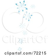 Royalty Free RF Clipart Illustration Of A Border Of Blue Falling Snow