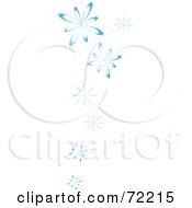 Border Of Blue Falling Snow