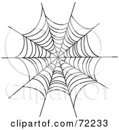 Royalty Free RF Clipart Illustration Of A Black Creepy Spider Web