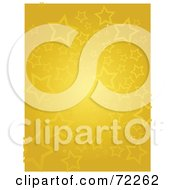 Royalty Free RF Clipart Illustration Of A Starry Yellow Gold Background With White Trim
