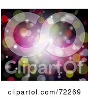Royalty Free RF Clipart Illustration Of A Colorful Background Of Sparkles And Bright Bursts On Black