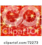 Royalty Free RF Clipart Illustration Of A Red Christmas Background With Golden Shining Stars
