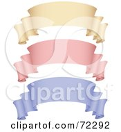 Royalty Free RF Clipart Illustration Of A Digital Collage Of Beige Pink And Purple 3d Blank Banners by cidepix