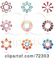 Royalty Free RF Clipart Illustration Of A Digital Collage Of Colorful Logo Icons Version 3 by cidepix