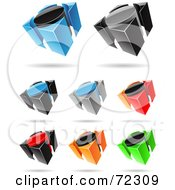 Royalty Free RF Clipart Illustration Of A Digital Collage Of Colorful 3d Icons Version 4