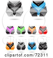 Royalty Free RF Clipart Illustration Of A Digital Collage Of Colorful 3d Icons Version 9