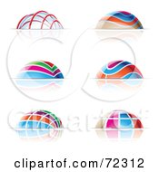 Royalty Free RF Clipart Illustration Of A Digital Collage Of Colorful Dome Icons