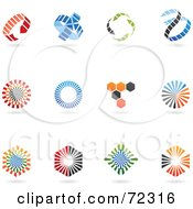 Royalty Free RF Clipart Illustration Of A Digital Collage Of Colorful Logo Icons Version 2 by cidepix