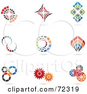 Royalty Free RF Clipart Illustration Of A Digital Collage Of Colorful Logo Icons Version 4