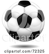 Royalty Free RF Clipart Illustration Of A Hovering 3d Standard Soccer Ball With A Shadow by cidepix