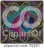 Colorful Mosaic Tile Unicorn Background