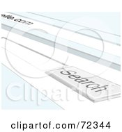 Royalty Free RF Clipart Illustration Of A Blank Search Box Online