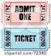 Royalty Free RF Clipart Illustration Of A Digital Collage Of Admit One And Raffle Tickets