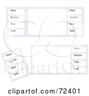 Royalty Free RF Clipart Illustration Of A Digital Collage Of Blank Event Tickets