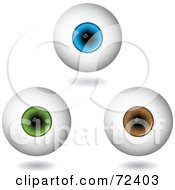 Royalty Free RF Clipart Illustration Of A Digital Collage Of Hovering 3d Eyeballs