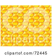 Yellow Honeycomb Patterned Background