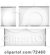 Royalty Free RF Clipart Illustration Of A Digital Collage Of Three Blank Display Signs by cidepix