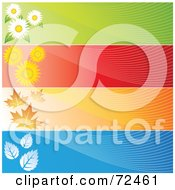 Royalty Free RF Clipart Illustration Of A Digital Collage Of Blank Horizontal Season Banners by cidepix