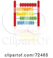 Royalty Free RF Clipart Illustration Of A Red Abacus With Colorful Beads Version 1