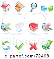 Royalty Free RF Clipart Illustration Of A Digital Collage Of 3d Internet Icons