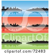 Royalty Free RF Clipart Illustration Of A Digital Collage Of Three Blue Red And Green Istanbul Turkey Banners by cidepix