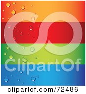 Royalty Free RF Clipart Illustration Of A Digital Collage Of Blank Horizontal Colorful Waterdrop Banners by cidepix