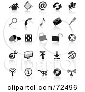 Royalty Free RF Clipart Illustration Of A Digital Collage Of Black And White Small Icons