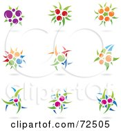 Royalty Free RF Clipart Illustration Of A Digital Collage Of Colorful Plant Icons
