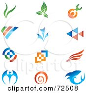 Digital Collage Of Colorful Logo Icons Version 11