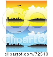 Royalty Free RF Clipart Illustration Of A Digital Collage Of Planes Over The Istanbul Turkey Skyline by cidepix
