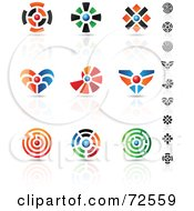 Digital Collage Of Colorful Logo Icons - Version 12
