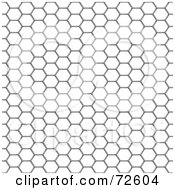 Royalty Free RF Clipart Illustration Of A Chicken Wire Mesh Background On White