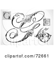 Royalty Free RF Clipart Illustration Of A Digital Collage Of Black And White Letters G Version 2 by BestVector