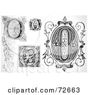 Royalty Free RF Clipart Illustration Of A Digital Collage Of Black And White Letters O Version 2