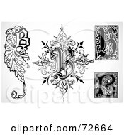 Royalty Free RF Clipart Illustration Of A Digital Collage Of Black And White Letters B Version 2 by BestVector