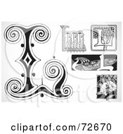 Royalty Free RF Clipart Illustration Of A Digital Collage Of Black And White Letters L Version 2 by BestVector