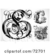 Royalty Free RF Clipart Illustration Of A Digital Collage Of Black And White Letters G Version 1