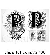 Royalty Free RF Clipart Illustration Of A Digital Collage Of Black And White Letters B Version 3