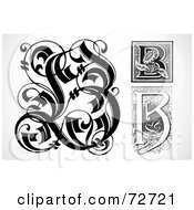 Royalty Free RF Clipart Illustration Of A Digital Collage Of Black And White Letters B Version 1