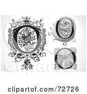 Royalty Free RF Clipart Illustration Of A Digital Collage Of Black And White Letters O Version 3
